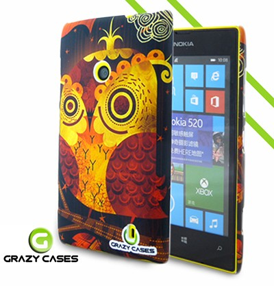 Grazy Cases Lumia 520 suojakuori - CrazyOwl