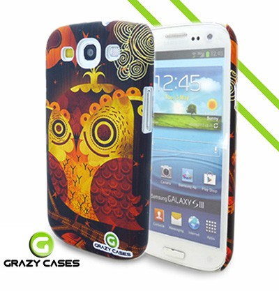 Grazy Cases Galaxy S3 suojakuori - CrazyOwl