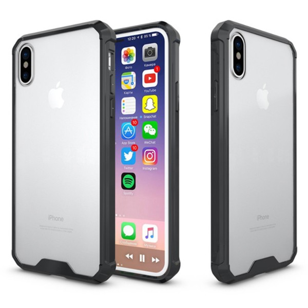 Apple iPhone X / XS Shockproof Suojakuori, Musta