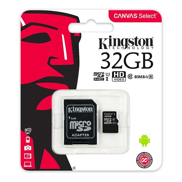 Kingston Micro SDHC Muistikortti Class 10, 32GB