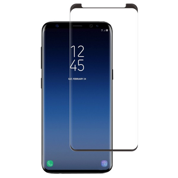 Samsung Galaxy S9 Screenor Full Cover Kaareva Panssarilasi, Musta