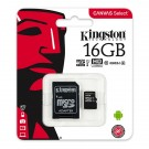 Kingston Micro SDHC Muistikortti Class 10, 16GB