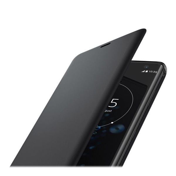 huge discount a635a 356b9 Sony Xperia XZ3 Style Cover Stand Suojakotelo, Musta